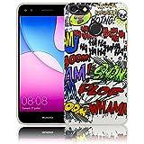 thematys Huawei Y6 Pro 2017 / Huawei P9 Lite Mini Comic Haha Silikon Schutz-Hülle weiche Tasche Cover Case Bumper Etui Flip Smartphone Handy Backcover Schutzhülle Handyhülle