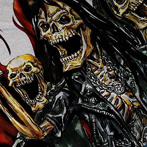 Skelett Rock Band schwer Metall Damen Schwarz S-2XL Muskelshirt | Wellcoda Grau