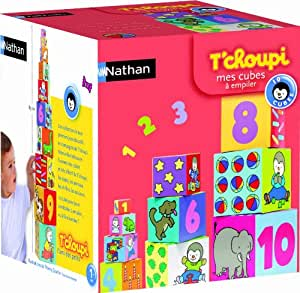 Nathan - 31005 - Jeu de société - Jeu éducatif - Pyramide Cubes T'choupi