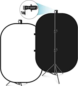 Neewer 5 X6 5 Chromakey Black And White 2 In 1 Double Camera Photo