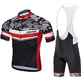 Lixada Traje Ciclismo Hombre, Ropa Ciclismo Hombre Culote Bicicleta Hombre Equipacion Ciclismo Hombre Mallot y Culot MTB, Jer