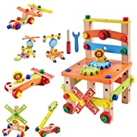 FunBlast Assembling Disassembling Wooden Multifunctional Chair with Nut and Screw Toys for Kids, Educational & Learning Toy for Kids (Multicolor)