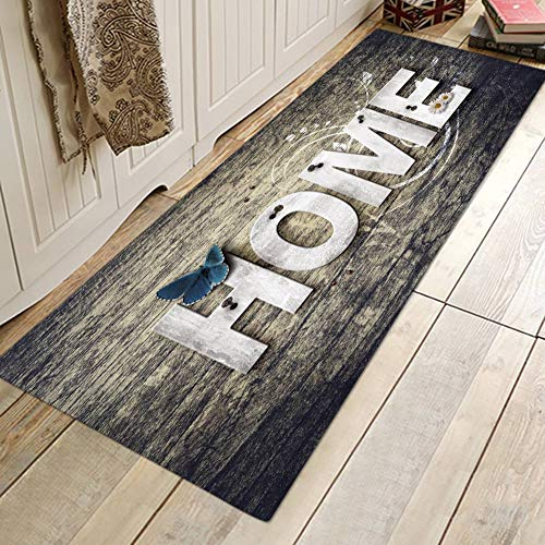 EFINNY Weihnachten Teppich Anti Rutsch Unterlage Teppich Wohnzimmer Kurzflor Fußmatte Innenbereich Lustig Waschbar