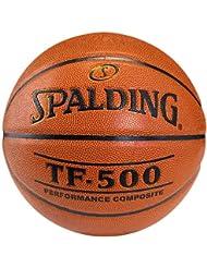 Spalding TF500 Ballon de basket pour jeu intérieur