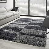 Teppich Hochflor Langflor Wohnzimmer Gala Shaggy Florhöhe 3cm Mehrfarbig - Grau-Hellgrau, 200x290 cm