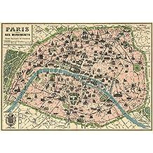 Decorative Wrap 20X28 Paris Map by Cavallini
