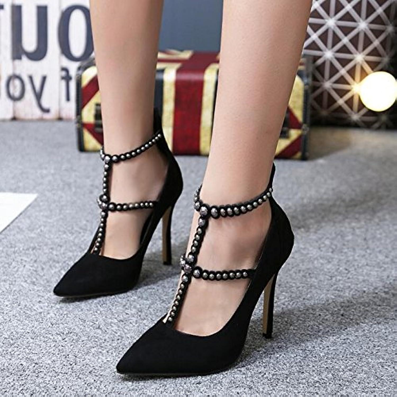 ZHZNVX Donna scarpe a punta elegante rivetti rivetti rivetti T con a tacco alto scarpe di perline è sottile e leggero, sandali... | Ad un prezzo inferiore  00fe57