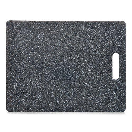 Zeller Planche à découper en Plastique, Anthracite, ca. 36,5 x 27,5cm