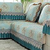 QINQIN Jacquard Sofabezug,Europäische Tuch Sofa-Überwürfe Four Seasons Universal Anti-Rutsch Couch-Abdeckung -F 90x210cm(35x83inch)