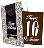 Happy 16th Birthday - Chocolate Greeting Card
