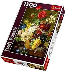 Trefl - 26120 - Puzzle - Nature morte aux fleurs - 1500 Pièces