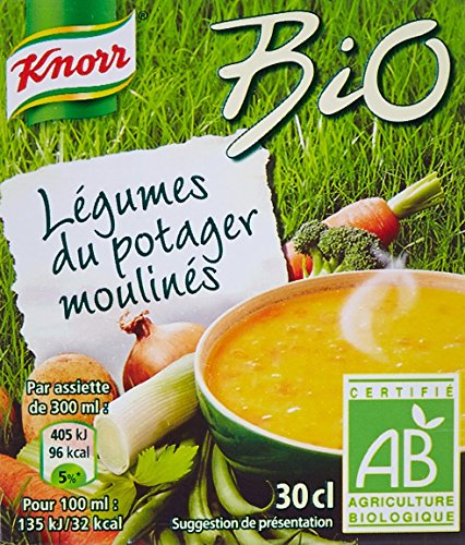 Knorr Soupe Légumes du Potager Moulinés Bio 30 cl - Lot de 12