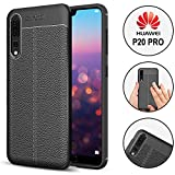 KoldKase Coque Huawei P20 Pro - Protection Premium, Antichoc, TPU, Silicone & Style Cuir | Noir