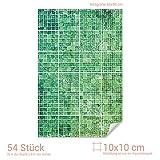 GRAZDesign Fliesenaufkleber Küche & Bad kleine Fliesen - Fliesenposter Grüne Mosaik - Fliesen Folie marokkanisches Muster / 10x10cm (BxH) / 767063_10x10_60