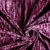 Fabulous Fabrics Pannesamt Crash rotlila — Meterware ab 0,5m — zum Nähen von Abend- und Partymode, Röcken und Kleidern