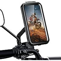 ENONEO Support Téléphone Moto étanche Rotation à 360 Anti-Vibrations Porte Telephone Moto avec ID Tactile Sensible…
