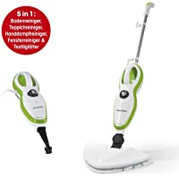 CLEANmaxx 01378 Dampfreiniger 5in1 | 1500W | Dampfbesen | hygienische Sauberkeit