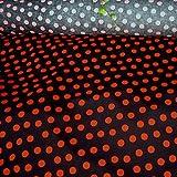 Stoff Baumwolle Punkte groß schwarz rot Tupfen Dots