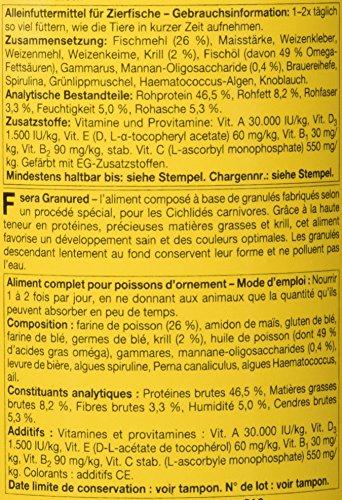 sera 00406 granured 1000 ml – Das farbverstärkende Granulat für kleinere Fleischfressende Cichliden - 2