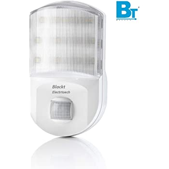 Blackt Electrotech Plug In Motion Night Light BT81S Motion Activated LED Lights For Bedroom, Staircase, Hall & Etc,White
