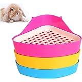 DesignerBox - Bandeja higiénica esquinera para mascotas, diseño de triángulo pequeño. Para hámsters, chinchillas, cobayas, co