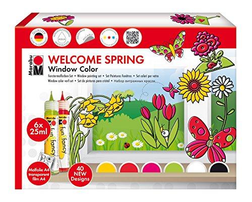 Marabu 40600118 - Window Color fun und fancy Welcome Spring, 6 x 25 ml, bunt