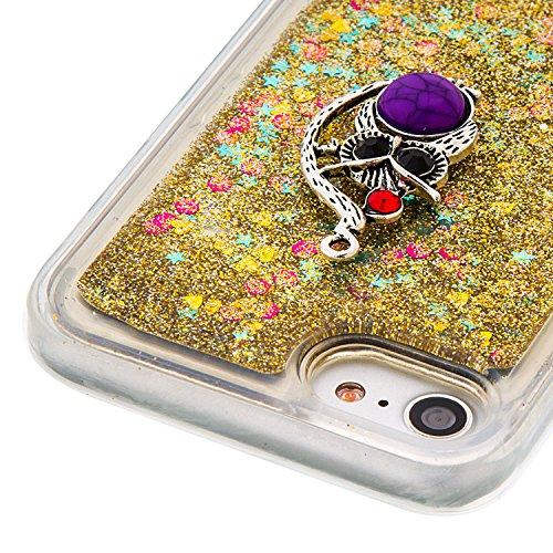 """MOONCASE iPhone 7 Coque, Glitter Sparkle Bling [Angel] Faux Diamant Dessin Motif Liquide Étui Coque pour iPhone 7 4.7"""" Soft TPU Gel Souple Case Housse de Protection Or 03 Or 04"""
