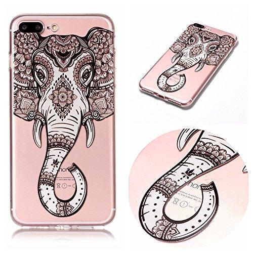 iPhone 7 Plus/8 Plus (5,5 zoll) Funda , Ecoway TPU Antideslizante Suave Resistente a Los arañazos TPU Contraportada Funda de Carcasa Funda Bumper Para iPhone 7 Plus/8 Plus (5,5 zoll) - Elefante
