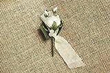 Hochzeitsanstecker 'Rosen', champagner - 5 Set - Gästeanstecker mit Rosen für die Hochzeit