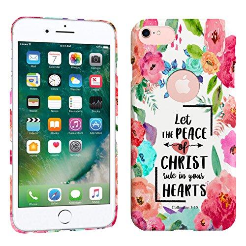 iPhone 7/iPhone 8Fall-Let The Peace of Christ Rule in Ihrem Herzen collosians 3: 15Zitat Hard Kunststoff Back Cover. Slim Profil Cute Bedruckt Designer Schutzhülle Zum Aufstecken Hearts Hard Case, Snap
