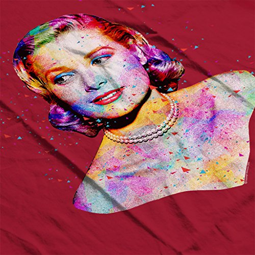Grace Kelly At Cannes Film Festival 1955 Multicolour Women's Hooded Sweatshirt Cherry Red