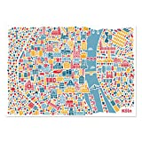 Köln Poster (70x50cm) - Stadtplan Plakat Kunstdruck bunt