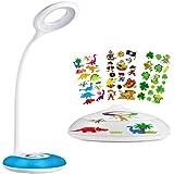 Hihigou Led-bureaulamp, dimbare oogbescherming, leeslamp, 3,2 W, touch-bediening, kleurverandering en 3 helderheidsniveaus, U