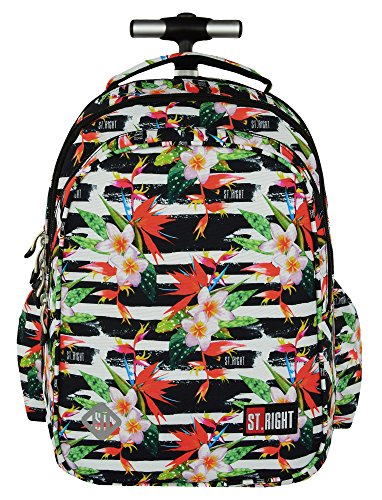 afc98f29d0 St.Right TROPICAL STRIPES Super Zaino Trolley Scuola per Ragazza Bambina ...