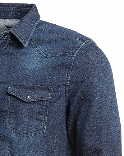 BLZ jeans - Chemise en jean bleu foncé Bleu