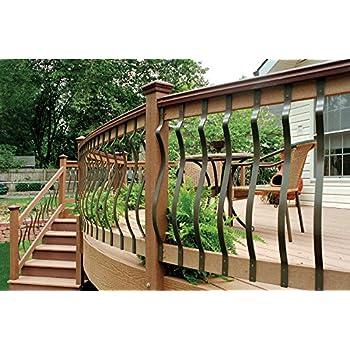 Decking Panel Wooden 10x Wood Decking Spindles Balustrade Railings Set