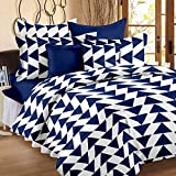#10: Story@Home Candy 120 TC Double Bedsheet With 2 Pillow Covers, Navy