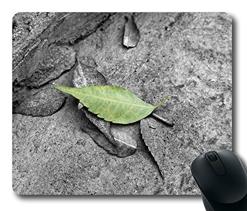accented-leaf-mouse-pad-oblong-shaped-mouse-mat-design-rubber-durable-computer-desk-stationery-acces