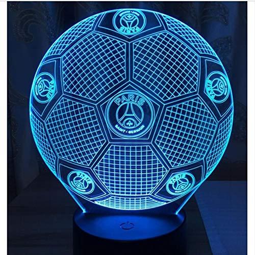 Licht Der Nacht 3D 3D Led Lampe Fußball Fußball Lava Lampe 7 Bunte Nachtlichter Mit Usb Touch Base Neuheit Luminaria Kinder Daddy Geschenk Drop Ship
