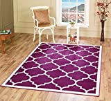 """A2Z RUG Trellis Rugs Purple 80x150 cm -2'6""""x4'9"""" ft Trendy Collection Area Rug"""