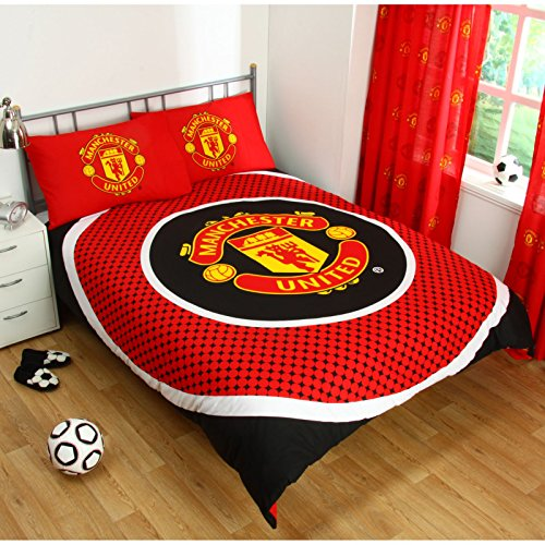 Manchester United Official Reversible Double Duvet Cover Set