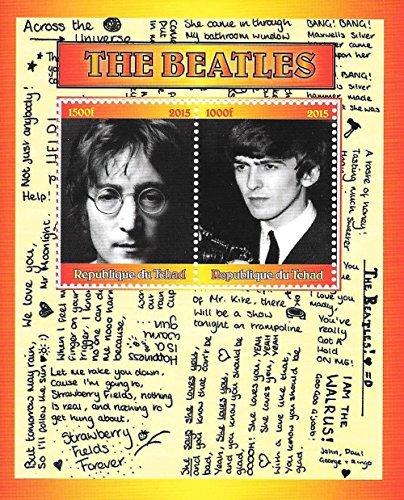Briefmarken für Sammler - The Beatles Music and Lyrics MNH Kleinbogen/Tschad / 2015 -