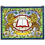 Design Toscano Lion Armoiries Verrière Verre, Multicolore, 1,5 x 63,5 x 48,5 cm