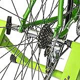 Relaxdays Rollentrainer Inklusive Schaltung 6 Gänge für 26-28 zoll bis 120 kg Belastbar Indoor Fahrradfahren Stahl, Grün, 10018322_53 - 5
