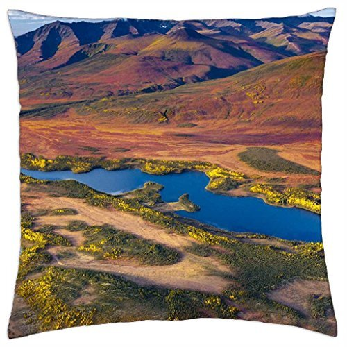 awesome arctic national park alaska in spring - Throw Pillow Cover Case (18 (Park National Arctic)
