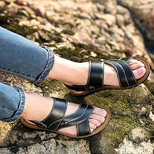 CHNHIRA Herren Sommer Sandale Slipper Pumps Schwarz 1