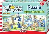 """Amigo 04648 - """"Rabe Socke"""" Jigsaw Puzzle, 2 x 48 Pieces"""