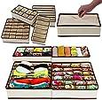 TradeVast® Non-Woven Foldable Cloth Storage Box - Set of 4 (Light Grey)