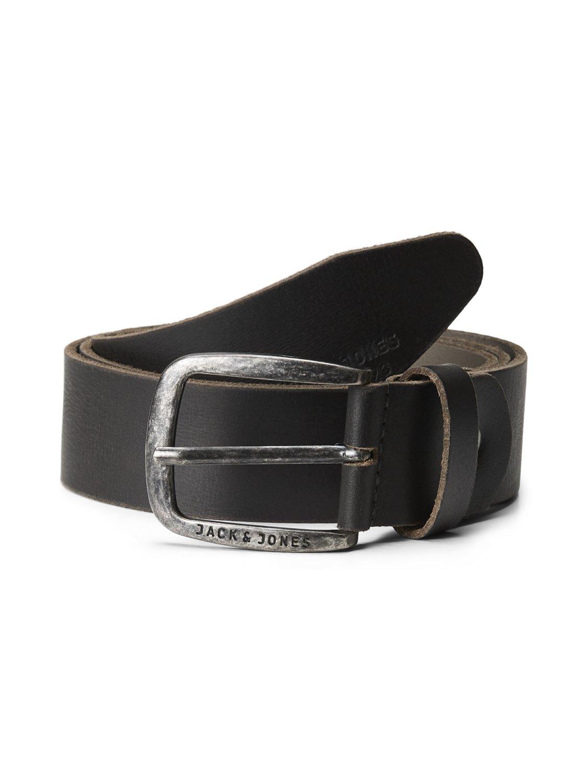 JACK   JONES B46 Men s Leather Belt Black Cognac Brown Wide Free Leather  Care 315f569b34