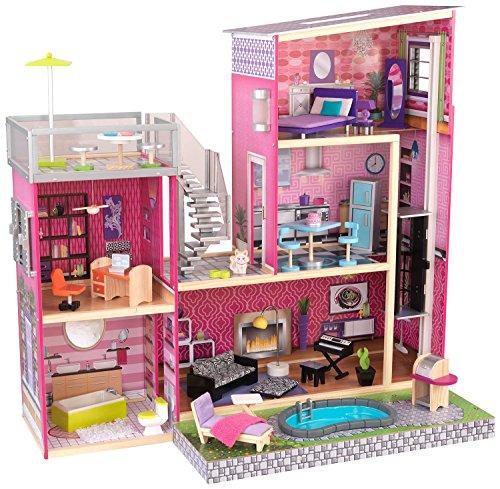 KidKraft 65833 - Haushaltsspielzeug Puppenstadthaus, rosa